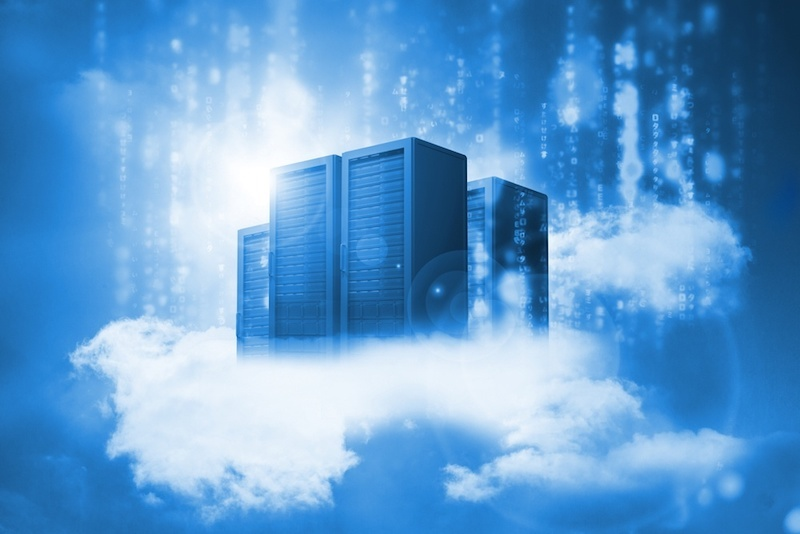 Data servers resting on clouds in blue in a cloudy sky1.jpg
