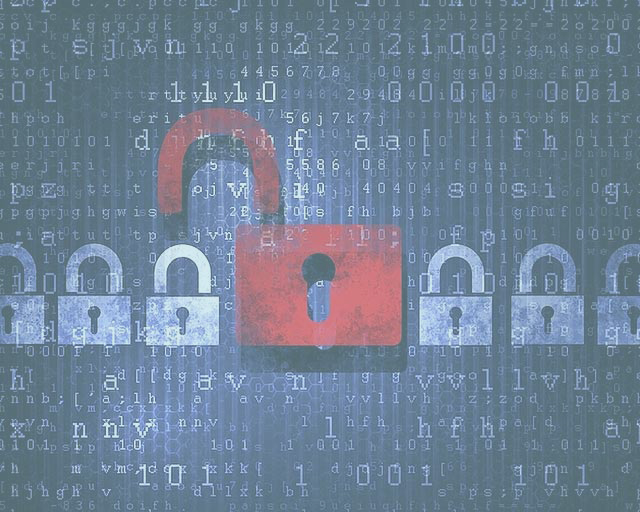 Security-concept-Lock-on-digital-screen,-illustration1